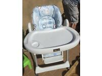 Chicco high blue chair