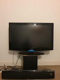 "Samsung 40"" LCD Full HD+ FREE Samsung Home Cinema Bar with DVD player & FREE Samsung Wireless Woofer"