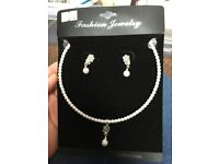 Ladies earrings and necklace set