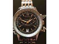 Breitling A4880 Montbrilliant Edition Mechanical Chronograph Black Dial 43mm