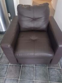 Kids leather brown chair