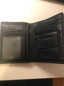 Male wallet. Great Christmas gift black genuine leather