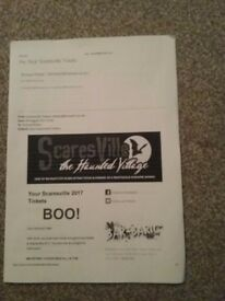 Tickets for Scaresville on saturday 28th oct. 7pm....8pm slot.