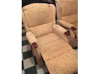 Two manual reclining chairs. Nice clean condition