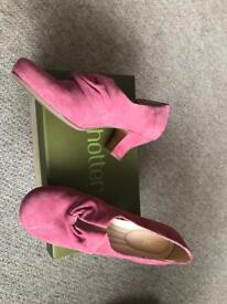Hotter Donna Pink Suede Shoes Size 8