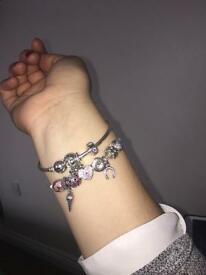 Looking for pandora bracelet 19-20cm and charms