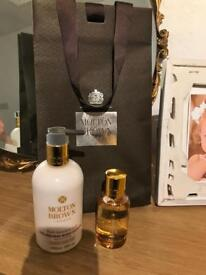 New Molton Brown body lotion and Eau De Toilette