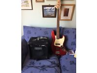 Squier Jazz Bass Affinity with Amp