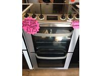 ELECTRLOUX 55CM CEROMIC TOP ELECTRIC COOKER IN SILIVER
