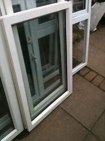 Upvc window with clear double glazed glass (non opener)
