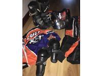 Kids motocross gear job lot