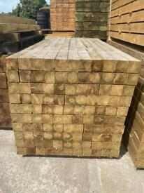 🌞 VARIOUS SIZED PRESSURE TREATED WOODEN FENCING POSTS - VARIOUS SIZES