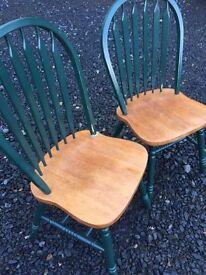 Nice pair of pine dining chairs