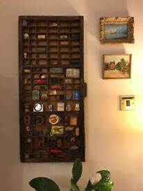 Antique Letterpress printer trays - All shapes and sizes - vintage retro wooden wall shelf letters