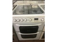 60CM WHITE HOTPOINT GAS COOKER DOUBLE OVEN