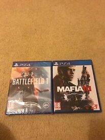 Battlefield 1 sealed and mafia 3 played once
