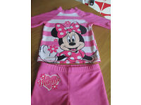 GORGEOUS DISNEY MINI MOUSE TWO PIECE PROTECTIVE SWIMWEAR - AGE 5-6 - VGC