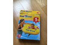 Pool School Deluxe Baby Float / rubber ring seat - up to 15kg