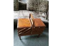 Wooden Sewing box / house clearance ideal car boot