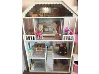 Beautiful girls dolls house and furniture