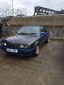 BMW E30 318 CONVERTIBLE 1993 L REG! VADER SEATS MOT STARTS AND DRIVES FINE