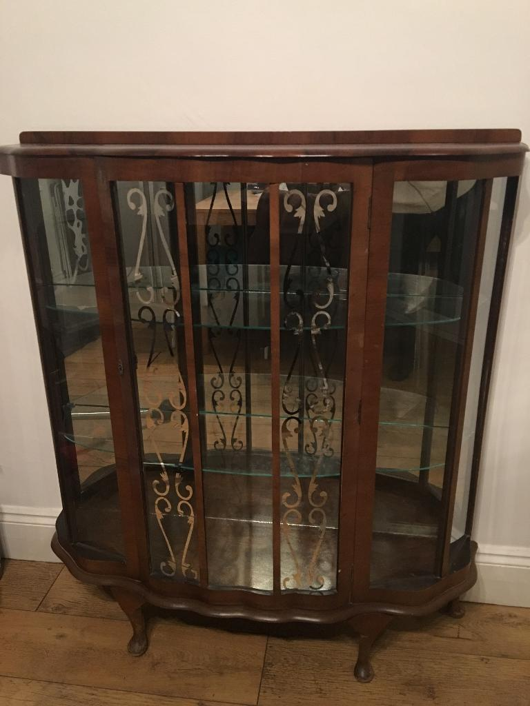 Vintage glass cabinet