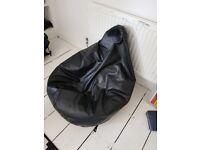Giant Leather Bean Bag