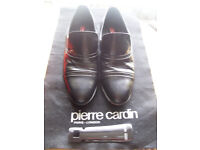Mens designer shoes (Pierre Cardin) size 8 Black new and boxed £10