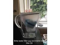 Brita water jug and filter