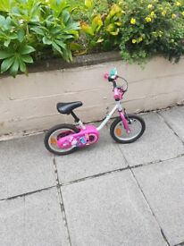 Girls bike - would suit ages 3 to 5 Ideal for learning. Stabilisers. Excellent condition.