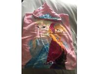 Frozen towel with hood/poncho