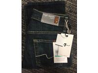 7 for all Mankind High Waist, Straight Leg - women's designer jeans - bnwt - size 24