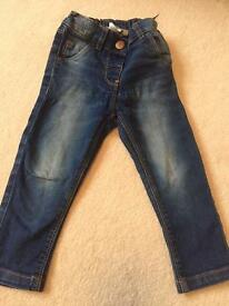 Girls next jeans 12-18 months great condition
