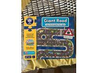 Giant road puzzle