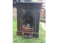 Victorian cast fire