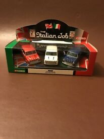 Corgi mint boxed never been opened Italian Job Minis Red White and Blue