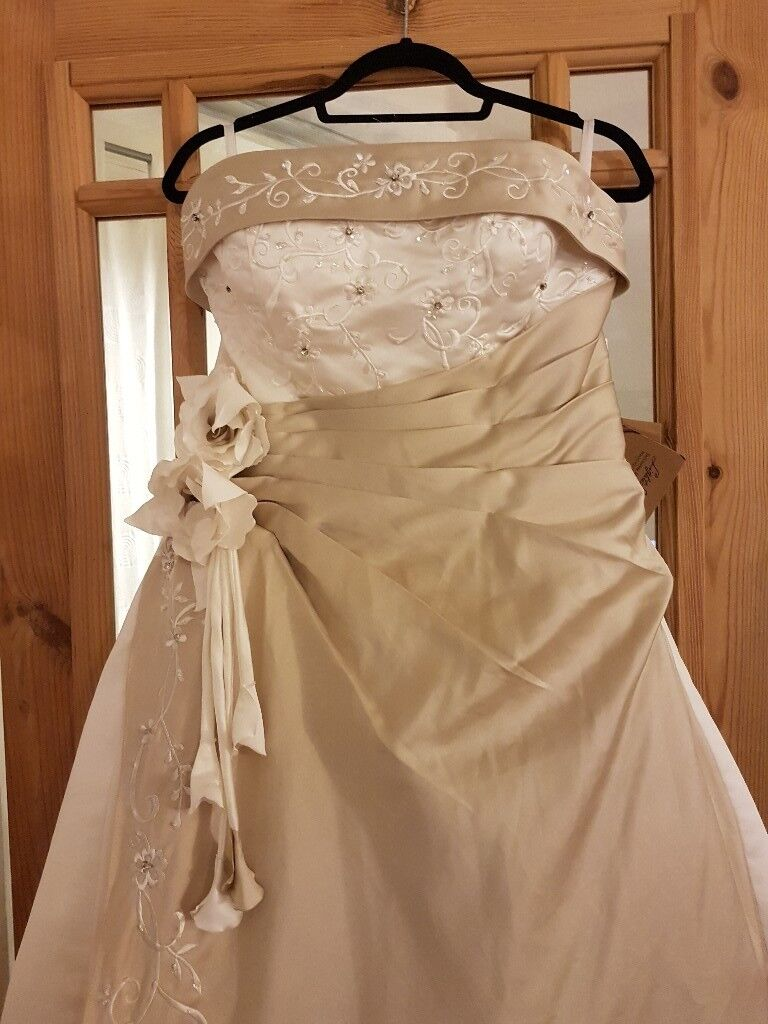 Ivory and Champagne wedding dress | in Sutton-in-Ashfield ...