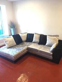New WEAR black and grey corner sofa