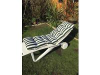 Garden Lounger By Allibert brand new cushion possible delivery