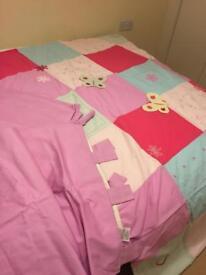 Girls duvet and curtain set