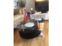 Glass coffee table £75