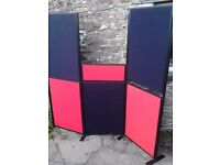 Double sided display boards with legs