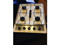 Gas Hob, 4 ring with grill. Used