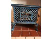 Antique Godin Chaussette Log Burner French Fire Place Stove