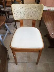 Retro chair with original cover.