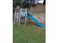 For Free!!!! TP Climbing Frame + Slide, good used Condition!