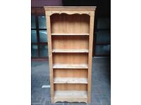 Period cottage storage bookshelf bookcase unit solid pine wood can deliver.