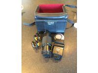 Vivitar 80-200 mm auto zoom lens and 2800 flash unit