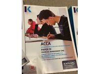 Kaplan ACCA F9 FULL SET study text + exam kit + extras