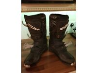 Wulf mx boots size 10 motocross boots